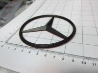 Эмблема шильдик Mercedes-Benz на перед 90 мм (черная) 212 817 00 16