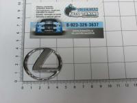 Эмблема шильдик логотип Lexus с клеевой основой 43х38 мм