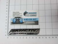 Эмблема шильдик Skyactiv для автомобилей Mazda на багажник 112*20 мм