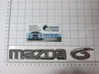 Эмблема шильдик Mazda 6 на багажник большая 210 х 37 м