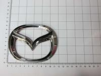 Эмблема шильдик логотип Mazda на багажник, решетку 115 х 90 мм