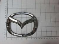 Эмблема шильдик логотип Mazda на багажник, решетку 125 х 98 мм