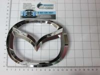 Эмблема шильдик логотип Mazda на багажник, решетку 140 х 110 мм