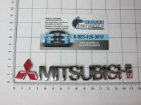 Эмблема шильдик Mitsubishi на багажник c логотипом 150 * 30 мм