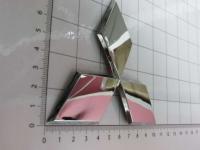 Эмблема шильдик логотип Mitsubishi на багажник, решетку 100 х 89 мм