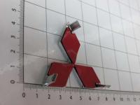 Эмблема шильдик логотип Mitsubishi на руль 58 х 52 мм