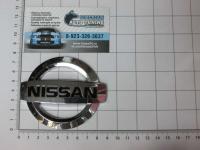 Эмблема шильдик логотип Nissan на багажник, решетку 88 х 75 мм