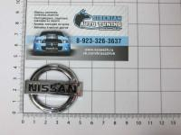 Эмблема шильдик логотип Nissan на руль 50 х 44 мм