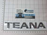Эмблема шильдик Teana на багажник 180 х 30 мм