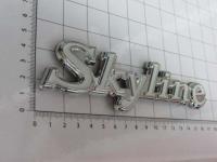Эмблема шильдик Skyline на багажник хром каемка 165 х 45 мм