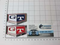 Эмблема шильдик GT на багажник 72 х 43 мм
