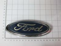 Эмблема шильдик логотип Ford на багажник с креплением 148 х 60 мм