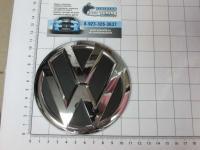 Эмблема шильдик логотип Volkswagen на багажник 110 мм 5ND853631