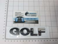 Эмблема шильдик на багажник GOLF хром 130*25