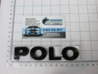 Эмблема шильдик на багажник POLO BLACK 130*25