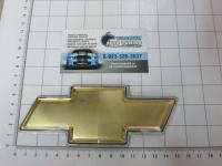 Эмблема шильдик логотип на решетку CHEVROLET золото 140*60 мм