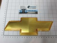 Эмблема шильдик логотип на решетку CHEVROLET золото 210*76 мм