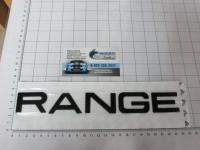 Надпись на капот или багажник Range Rover черная 475*30 мм
