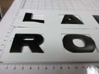 Надпись на капот или багажник Land Rover черная 475*30 мм (бол. буквы)