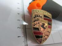 Эмблема шильдик на руль PORSCHE 40*31 мм