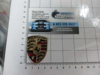 Эмблема шильдик на руль PORSCHE 48*36 мм