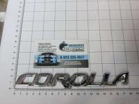 Эмблема шильдик на багажник Corolla хром 180*22 мм