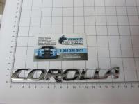 Эмблема шильдик на багажник Corolla хром 168*18 мм