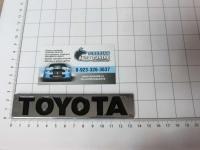 Эмблема шильдик на багажник Toyota хром 133*25 мм