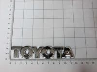 Эмблема шильдик на багажник Toyota хром 117*22 мм