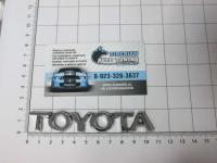 Эмблема шильдик на багажник Toyota хром 105*15 мм
