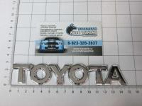 Эмблема шильдик на багажник Toyota хром 147*27 мм