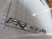 Эмблема шильдик на багажник Premio-e хром 210*23 мм