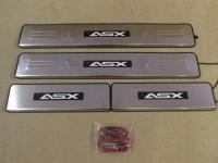 Светодиодные накладки на пороги Mitsubishi ASX