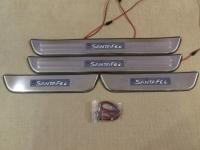 Светодиодные накладки на пороги Hyundai Santa Fe 2012 - н.в.