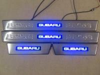 Светодиодные накладки на пороги Subaru Outback 2010- н.в.