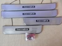 Светодиодные накладки на пороги Hyundai Santa Fe 2006 - 2012