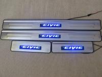 Светодиодные накладки на пороги Honda Civic 8 2006-2011 (2)