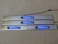 Светодиодные накладки на пороги Renault Koleos 2008 - н.в.