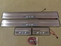 Светодиодные накладки на пороги Honda Fit 2007-2013 (2)