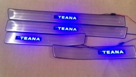 Светодиодные накладки на пороги Nissan Teana 2008 - 2011