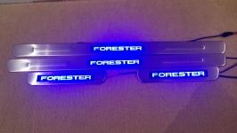 Светодиодные накладки на пороги Subaru Forester 2008-2013