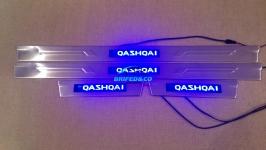 Светодиодные накладки на пороги Nissan Qashqai 2007-2013